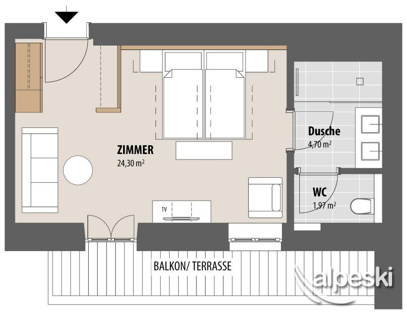 Hotel valluga austria alpeski especialistas de esqu for Cuanto miden las camas king